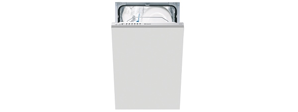Hotpoint LST216A Slimline Dishwasher Built In Silver