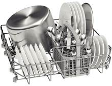 Picture of a full dishwasher rack