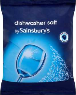 Picture of a bag of Sainsburys Dishwasher Salt