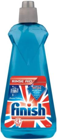 Picture of a bottle of rinse aid