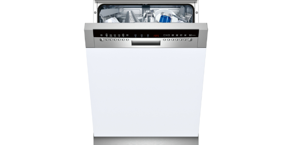 NEFF S42M69N0GB Semi Integrated Dishwasher With Stainless Steel Panel