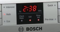 Dishwasher LED display