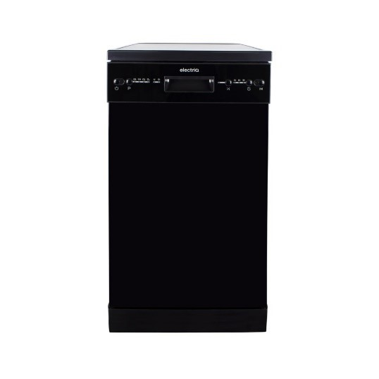 electriQ Slimline Freestanding Dishwasher- Black